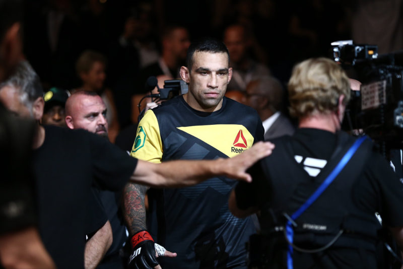 Fabricio Werdum walks to the UFC cage