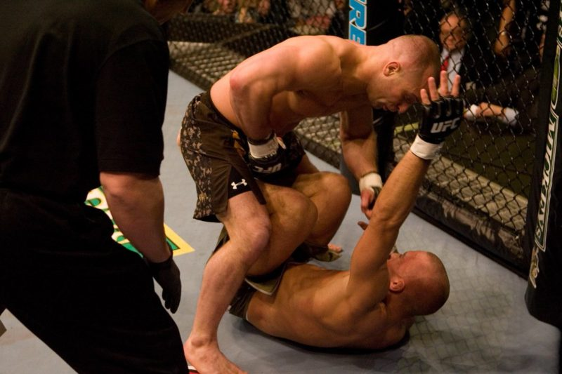 Matt Serra defeats Georges St-Pierre in one of the greatest upsets in UFC history
