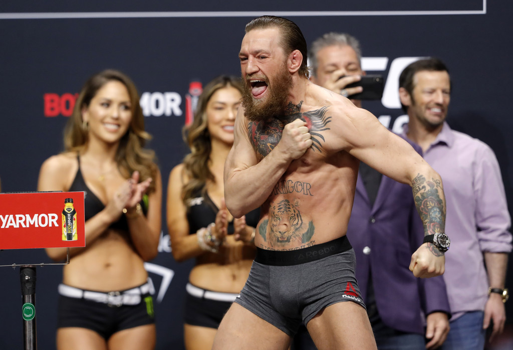Conor Mcgregor at official weigh-ins UFC