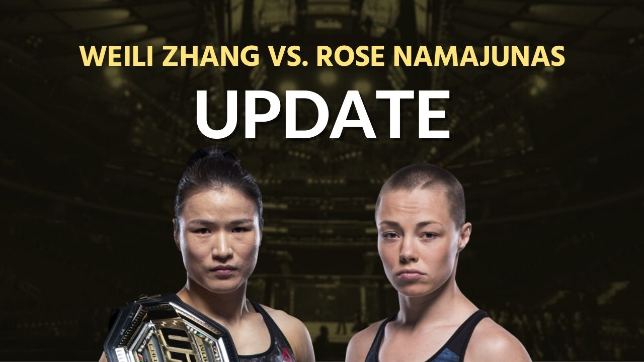 We finally know more about Weili Zhang vs. Rose Namajunas 5
